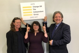 Emma Taylor, Michelle de Vries and Roger Casale, Change UK featured