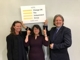 Emma Taylor, Michelle de Vries and Roger Casale, Change UK featured