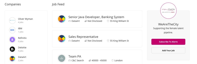 Screen grab for new job board