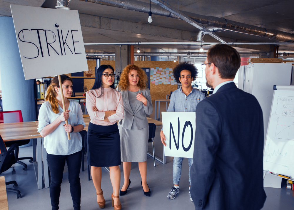 employee activism, strikes, striking