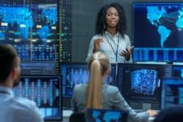 female data scientist, woman leading team
