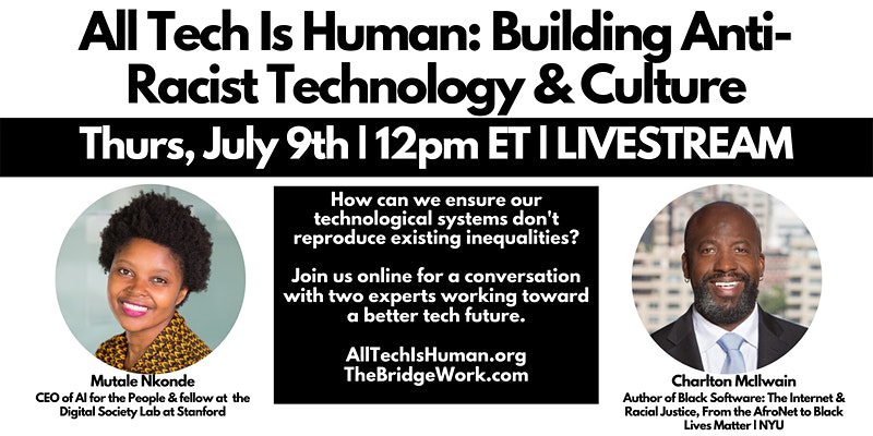 Anti-racist technology and culture, All Tech Is Human event image
