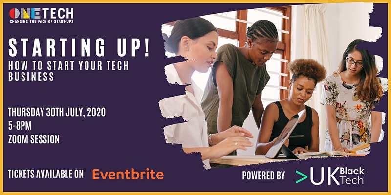 Starting up, How to build your tech business event image
