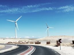windmills on a curved road, Autonomous Enterprise