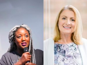 Anne-Marie Imafidon MBE & Sheila Flavell CBE, European Tech Women Awards