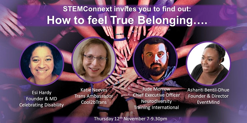 #STEMConnext, How to feel true belonging event image