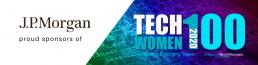 J.P. Morgan proud sponsors of TechWomen100 banner