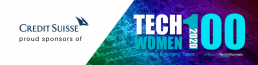 Credit Suisse proud sponsors of TechWomen100 banner