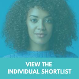 TechWomen100 Shortlist Button