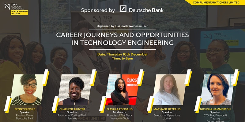 TLA Black Women in tech event, Preparation for 2021