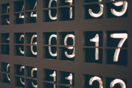 assorted numbers on a board, women in data