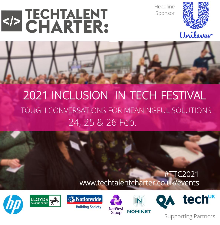 Inclusion in tech festival, tech talent charter