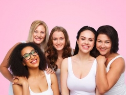 Galentine's Day, group of happy, diverse womenGalentine's Day, group of happy, diverse women