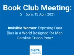 Digi Leaders Book Club event, Caroline Criado Perez featured