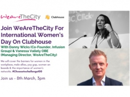 International Women's Day, Vanessa Vallely & Danny Wicks event featured