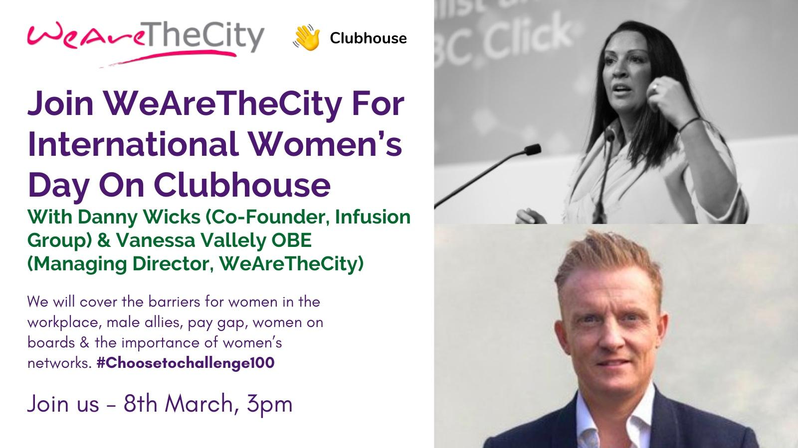 International Women's Day, Vanessa Vallely & Danny Wicks event