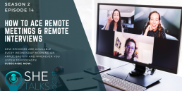 How to ace remote meetings & remote interviews' with Esther Stanhope