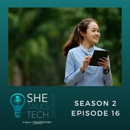 She Talks Tech podcast episode 16 on new tech brings new hope with Baroness Joanna Shields square