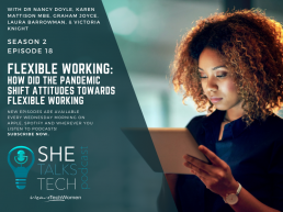 Flexible working: how did the pandemic shift attitudes towards flexible working?' with Dr Nancy Doyle - She Talks Tech podcast
