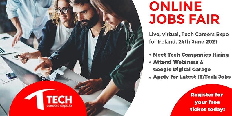 Tech Careers Expo, Online Jobs Fair, Recruit.ie