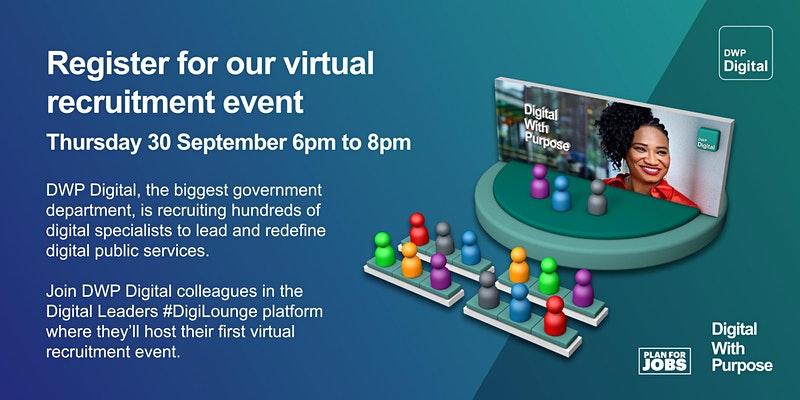 DWP Digital Virtual Recruitment Evening event image