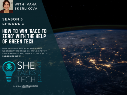Listen to our latest She Talks Tech podcast on 'How to Win Race to Zero with the Help of Green Tech' with Ivana Skerlikova, Atos
