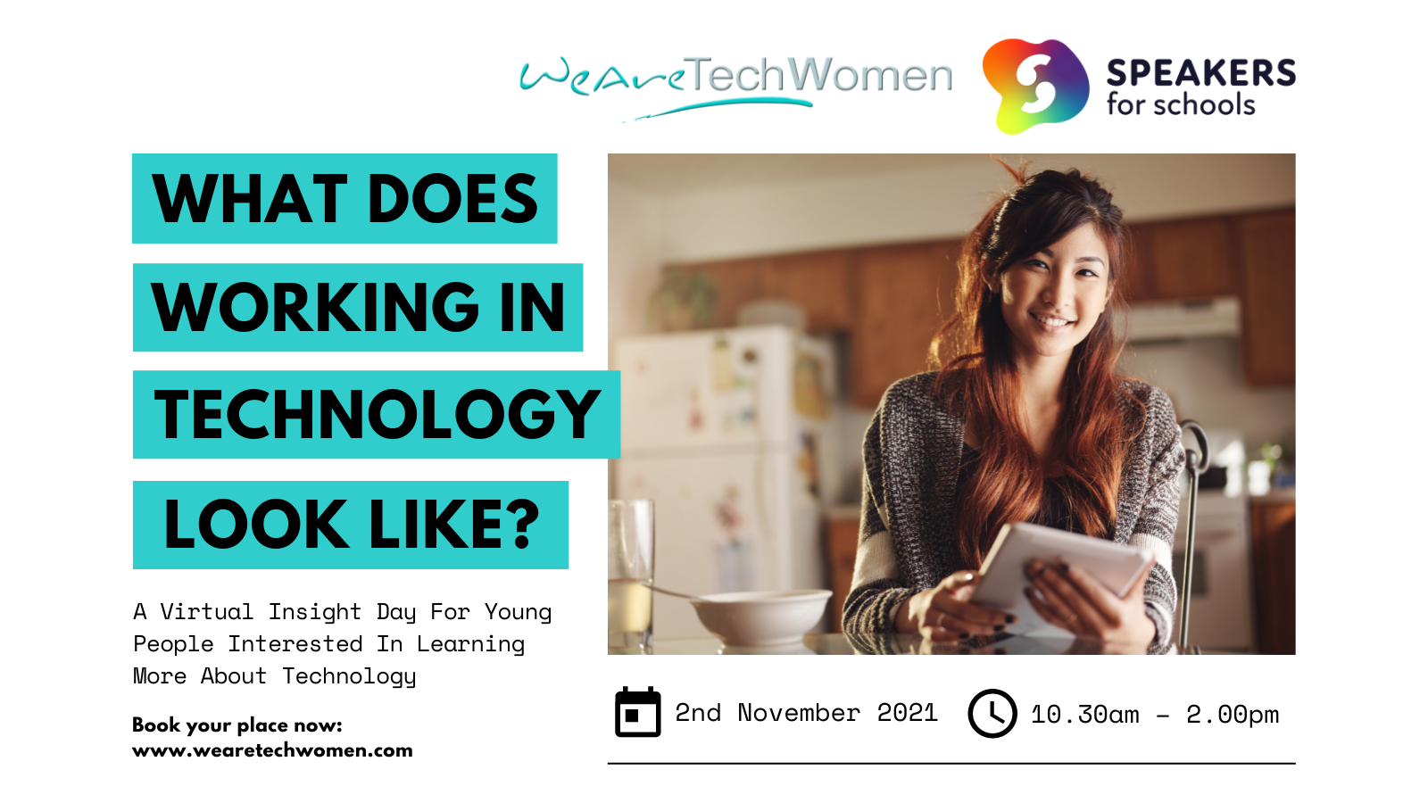 What does working in Technology look like? WeAreTechWomen & Speakers for Schools event image