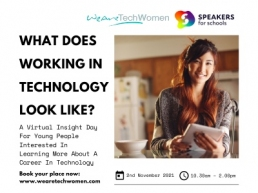 What does working in Technology look like? WeAreTechWomen & Speakers for Schools event image featured