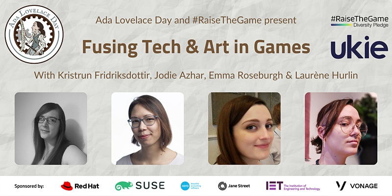 Ada Lovelace Day 2021- Fusing Tech & Art in Games
